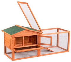 Tangkula Chicken Coop Outdoor Wooden Chicken Coop Garden Backyard Farm Bunny - Mia's Pet Supply