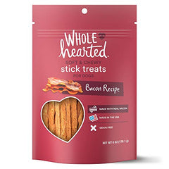 WholeHearted Grain Free Soft and Chewy Bacon Recipe Dog Stick Treats - Mia's Pet Supply
