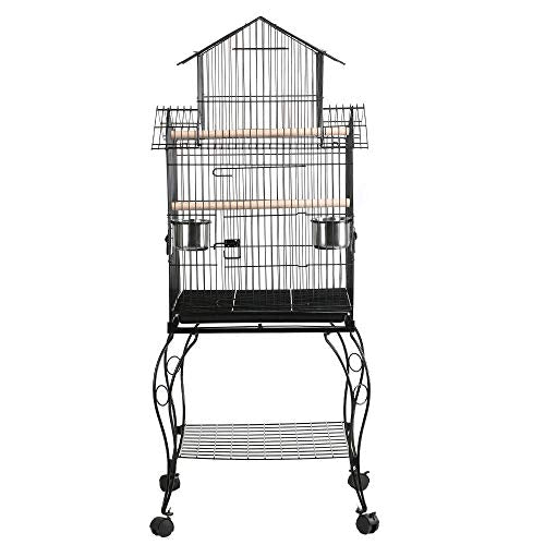 ": Yaheetech 55"" Rolling Standing Triple Roof Top Medium Bird Cage for Mid-Sized Parrot - Mia's Pet Supply"