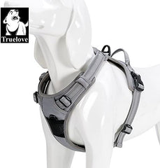 TRUE LOVE Adjustable No-Pull Dog Harness Reflective Pup Vest Harnesses - Mia's Pet Supply