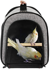 X-ZONE Portable Pet Bird Parrot Carrier Transparent Breathable Travel Cage - Mia's Pet Supply