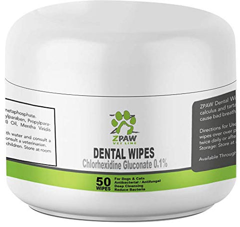 : ZPAW Dental Wipes for Dogs and Cats - Mia's Pet Supply