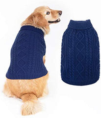 Turtleneck Knitted Dog Sweater - Mia's Pet Supply