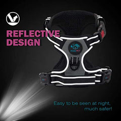 PHOEPET Reflective Dog Harness Large Breed Adjustable No Pull Vest - Mia's Pet Supply
