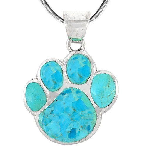 : Dog Paw Pendant Necklace - Mia's Pet Supply