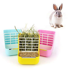 : sxbest Rabbit Feeders Hay Food Bin Feeder, Food Hay Feeder for Guinea Pig, Rabbit, - Mia's Pet Supply