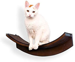 THE REFINED FELINE Lotus Leaf Cat Shelf in White - Mia's Pet Supply