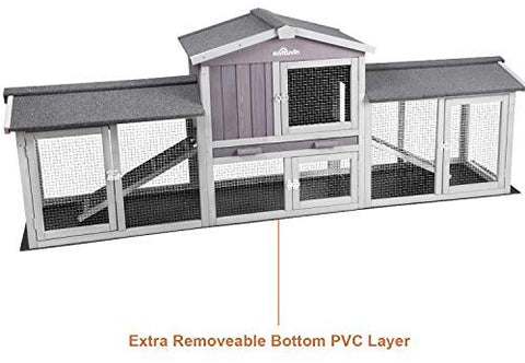 Aivituvin 87.8''L Extra Large Chicken Coop, Rabbit House - Mia's Pet Supply