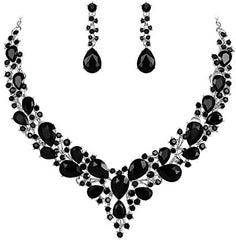 BriLove Wedding Bridal Necklace Earrings Jewelry Set for Women - Mia's Pet Supply