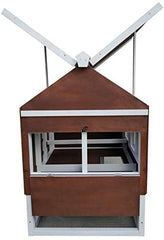 Omitree Deluxe Sturdy Wood Frame Plywood Chicken Coop Backyard Hen House - Mia's Pet Supply