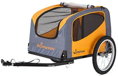 Schwinn Rascal Bike Pet Trailer, For Small and Large Dogs, Small, Orange - Mia's Pet Supply