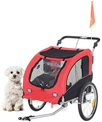 Aosom Elite II 2-in-1 Pet Dog Bike Trailer and Stroller with Suspension - Mia's Pet Supply