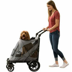 : Pet Gear NO-Zip Stroller, Push Button Zipperless Dual Entry, for Single or Multiple Dogs - Mia's Pet Supply