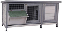 PawHut Wooden Outdoor Bunny Rabbit Hutch - Mia's Pet Supply