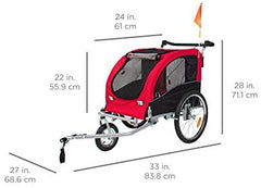 Amazon.com : Best Choice Products 2-in-1 Pet Stroller and Trailer w/Hitch, Suspension, Safety Flag, and Reflectors : Pet Supplies - Mia's Pet Supply