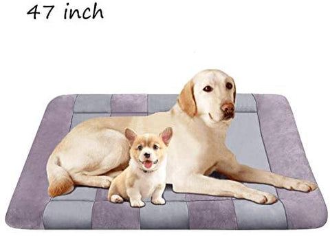 "JoicyCo Dog Bed Large Crate Bed Mat 42"" Pet Beds Washable Anti-Slip Bottom Cat Beds - Mia's Pet Supply"