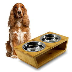 - Elevated Double Bowl - Mia's Pet Supply