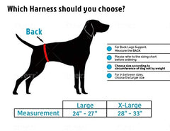 Dog Lift Harness Sling | Acl Brace For Rear Leg Support - Mia's Pet Supply