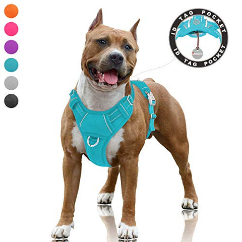 BARKBAY No Pull Dog Harness Large Step in Reflective Dog Harness - Mia's Pet Supply