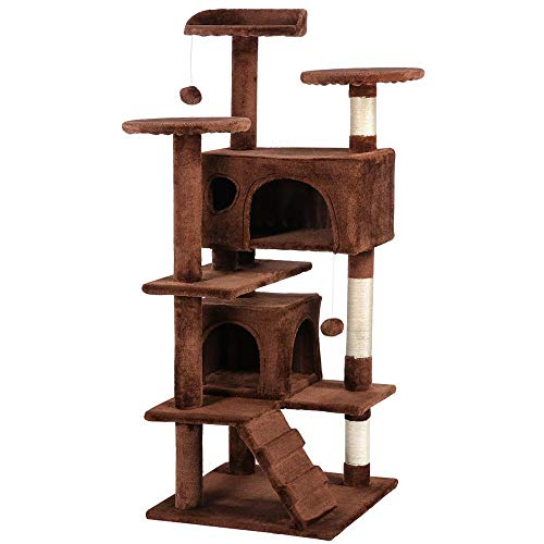 ": Yaheetech 51"" Cat Tree Furniture Tower : Pet Supplies - Mia's Pet Supply"