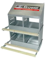 Brower 404B 4-Hole Poultry Nest : Chicken Nest Box - Mia's Pet Supply