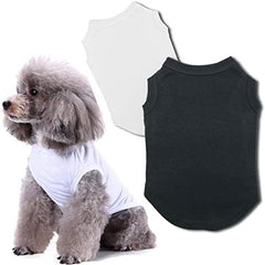 Chol&Vivi Dog Shirts Clothes, Dog Clothes T Shirt Vest Soft and Thin, 2pcs Blank Shirts - Mia's Pet Supply