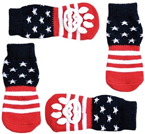 Posch Anti-Slip Knit Socks for Pets with Traction Soles for Indoor - Mia's Pet Supply