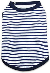 Dog T Shirt Pet Striped Tshirts Puppy Clothes for Small Dogs - Mia's Pet Supply