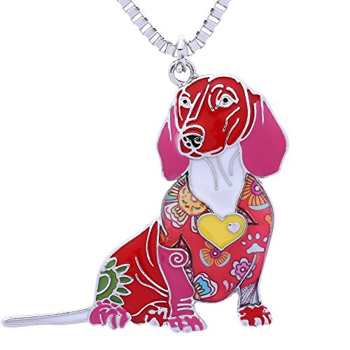 Luckeyui Novelty Dachshund Gifts Necklace for Women Personalized Dog Lovers P - Mia's Pet Supply