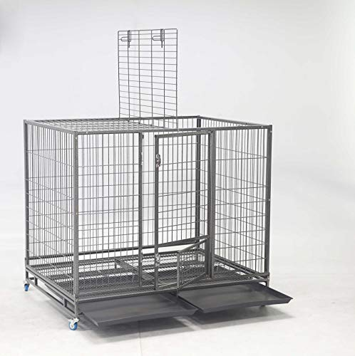 ": 49"" Open Top Stackable Heavy Duty Cage with Casters - Mia's Pet Supply"