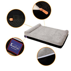: Laifug Orthopedic Memory Foam Extra Large Dog Bed Pillow - Mia's Pet Supply