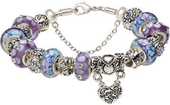 Amazon.com: The Hearts of Mother and Daughter are Held Together by Love Forever Blue & Purple Glass - Mia's Pet Supply