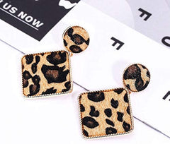 CEALXHENY Leopard Dangle Earrings for Women - Mia's Pet Supply