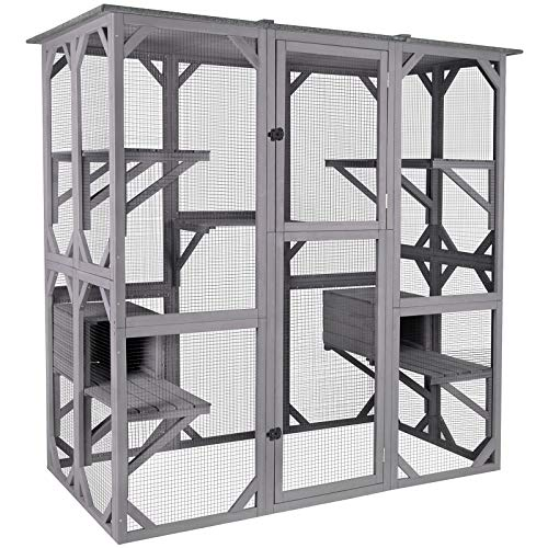 Aivituvin Cat House Outdoor Catio Kitty Enclosure - Mia's Pet Supply