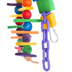 : Pure Natural Colorful Wood Parrot Toys, - Mia's Pet Supply