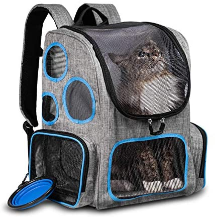 Purrfect Pack Cat Backpack (Basic) Backpack for Cats Small Dogs Puppies
