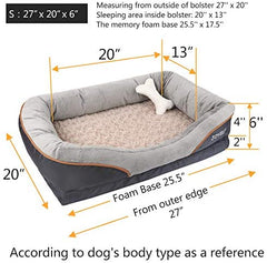 JOYELF Memory Foam Dog Bed Small Orthopedic Dog Bed & Sofa - Mia's Pet Supply