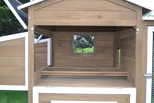 "Large 87"" Wood Chicken Coop Backyard Hen House 4-8 Chickens - Mia's Pet Supply"