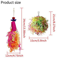 Vehomy Chicken Toys for Hen with Natural Colorful Loofah Shredder Toys - Mia's Pet Supply