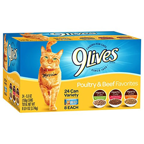 : 9 Lives Poultry And Beef Variety Pack - Mia's Pet Supply