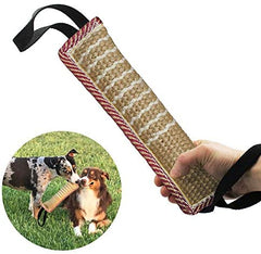 Dog Tug Toy |Tug of War Dog Toy |Jute Bite Pillow with 2 Handles for Puppy Training - Mia's Pet Supply