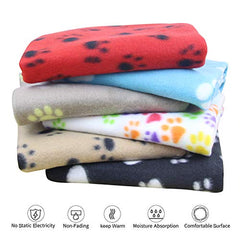: AK KYC 6 Pack Mixed Puppy Blanket Cushion Dog Cat Fleece Blankets - Mia's Pet Supply