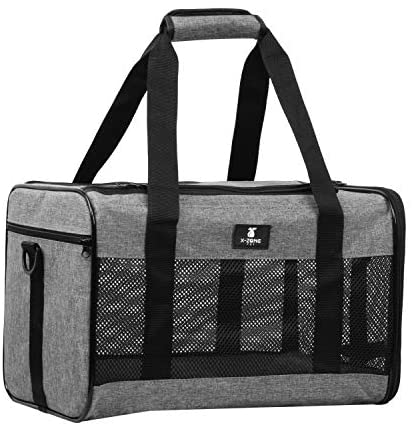 X-ZONE PET Airline Approved Soft-Sided Pet Travel Carrier for Dogs and Cats, - Mia's Pet Supply