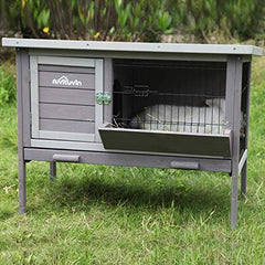 Aivituvin Rabbit Hutch, Wooden Bunny Cages Indoor - Mia's Pet Supply