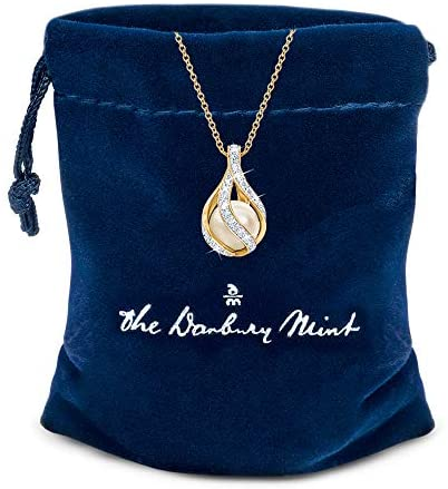 Love's Embrace Pearl & Diamond Necklace - Mia's Pet Supply