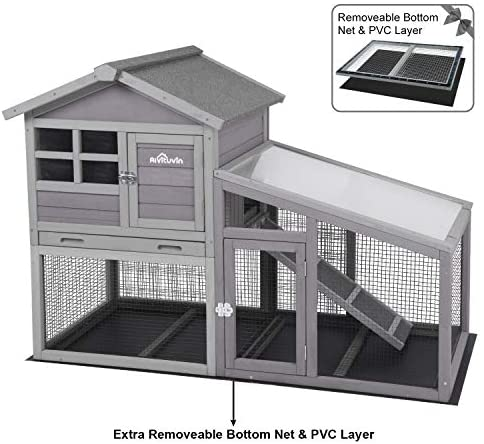 Aivituvin Rabbit Hutch Indoor and Outdoor, Bunny Cage - Mia's Pet Supply