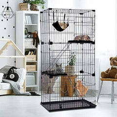 "Large 3-Tier Cat Cage Pet Playpen Cat Crate Kennels 67"" Height Kitten House Furniture - Mia's Pet Supply"