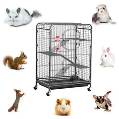 Metal Ferret Cage Indoor Outdoor Small Animals Hutch - Mia's Pet Supply