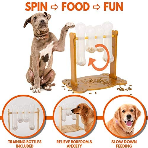 Interactive Dog Food Puzzle Toy - Treat Dispensing Dogs Slow Feeder - Mia's Pet Supply