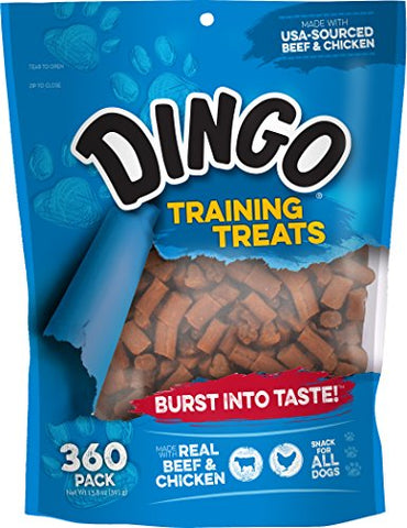 : Dingo Soft & Chewy Beef/Chicken Training Treats, 360-Count : Pet Snack Treats : - Mia's Pet Supply